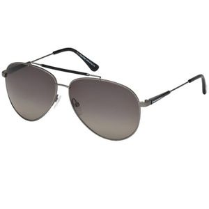 Tom Ford Sunglasses Silver w/Grey Lens
